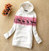 Женские толстовки и Кофты Seckilling! Lady Hoody Korean Style Fashion Deer Pattern Women's Sweater shirt, WH-011