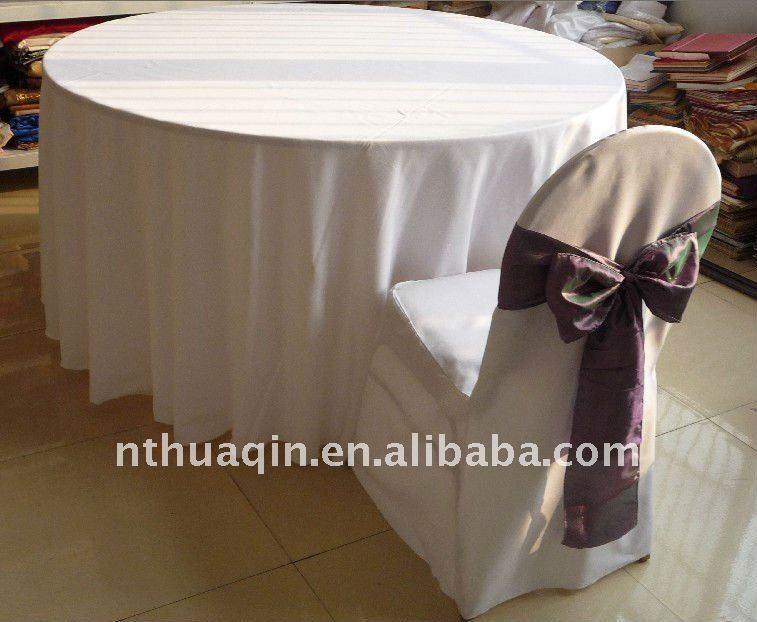 100 polyester nappe pour banquet de mariage 100 polyester couverture de table nappe ronde - Nappe Ronde Mariage