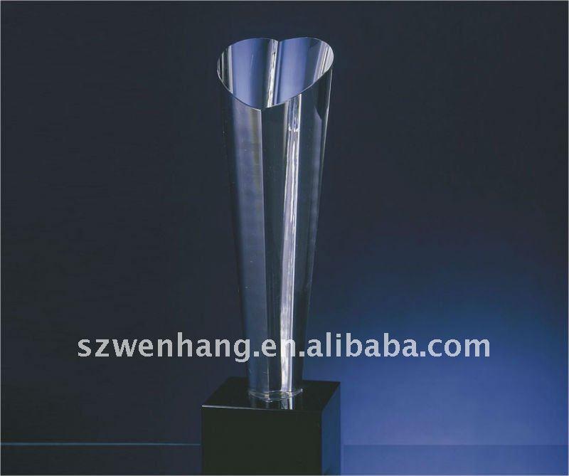 Fashion ,crystal trophy, heart shape