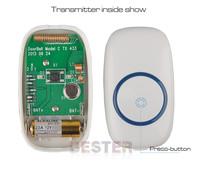 2 дверные + 1 пульт управления, 52 мелодии 300 м передачи водонепроницаемый цифровые электронные беспроводной удаленной дверной звонок