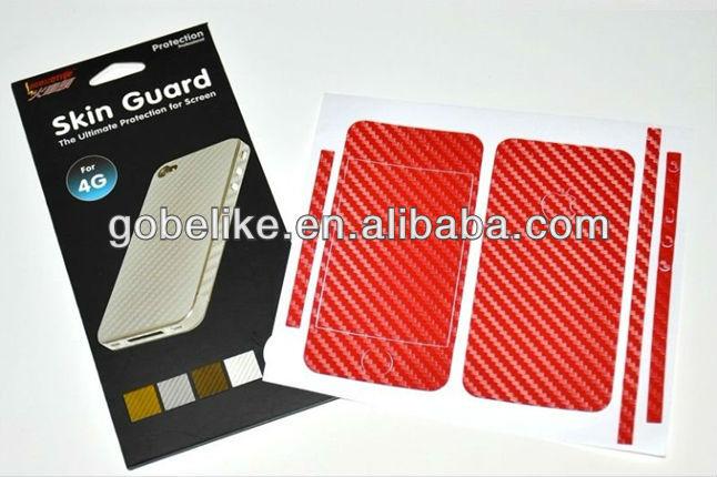 Carbon Fiber skin guard for iphone 4, For iphone5 carbon fiber skin sticker