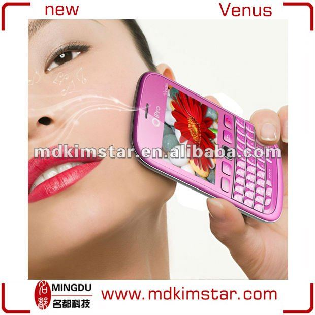 Newest Sell like Hot Cakes Dual SIM MTK6250 Super Slim Qwerty Keyboard Cell Phone iPro Venus
