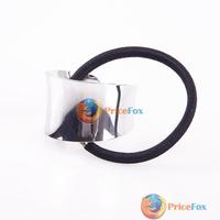 Женское платье Price Fox] Punk Vintage Metallic Mirror Hair Tie Cuff Wrap Ponytail Hair Band Elastic High Quality