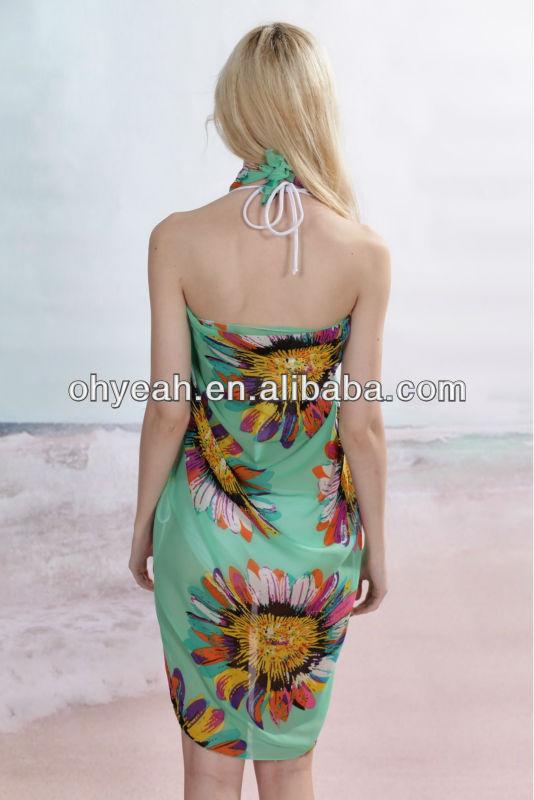 Платье с запахом для пляжа