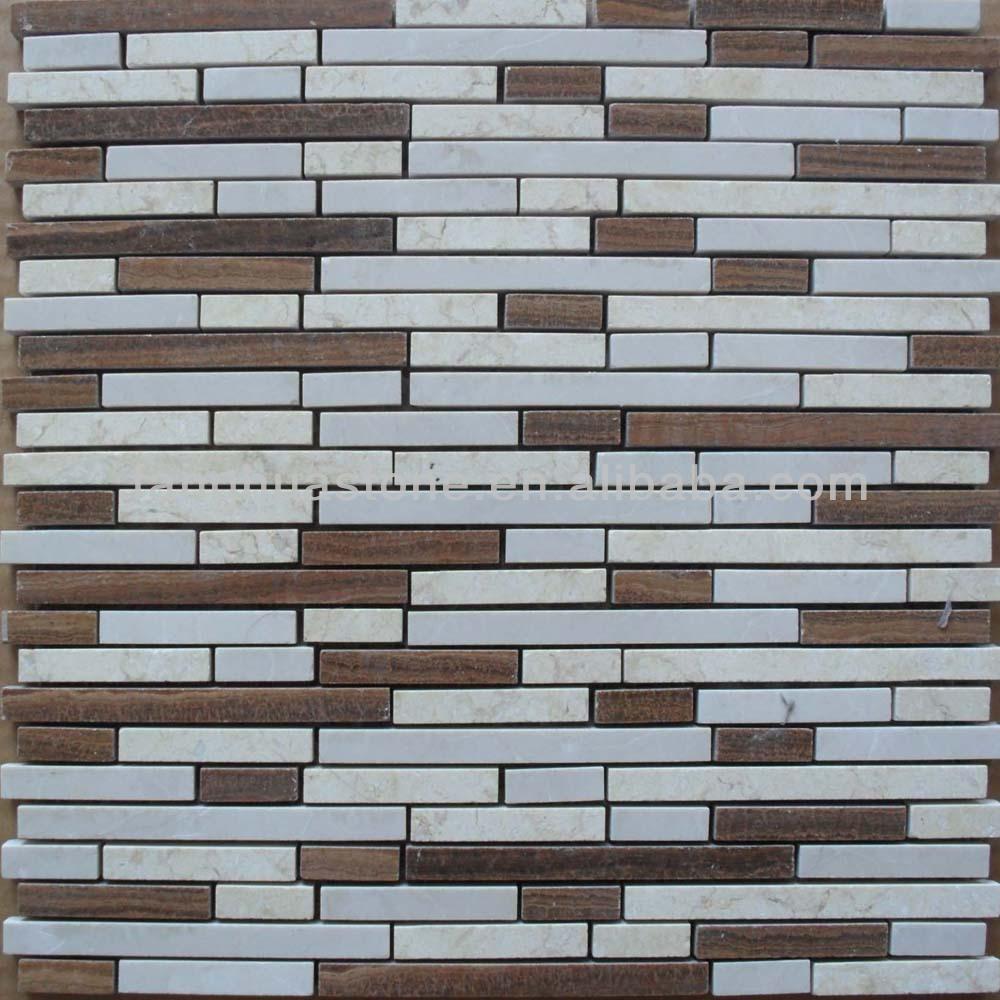 Badkamer stenen muur mozaïek tegel strip mozaïeken product id ...