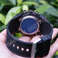 Наручные часы New 2 Dual Core Day Date Alarm Mens Blue Sport Wrist Watch Xmas Gift A020