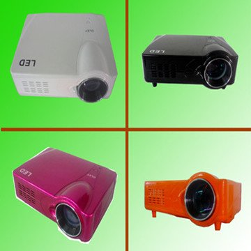 Promotion! lcd hd projectors with hdmi and tv tuner, AV/VGA/S-VIDEO/YPBPR