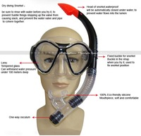 Маска для дайвинга 2012 hot sale! Diving mask & snorkel Scuba Diving Snorkeling Silicone Mask Eco-friendly silicone material