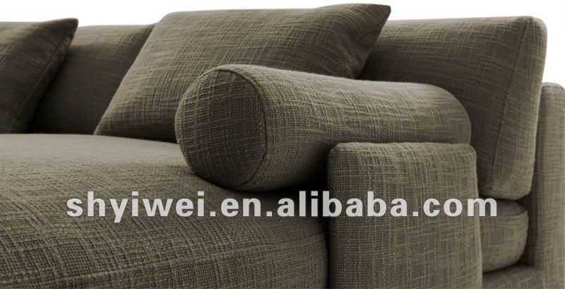 tejido en forma de l sof de la esquina moderna escenografa