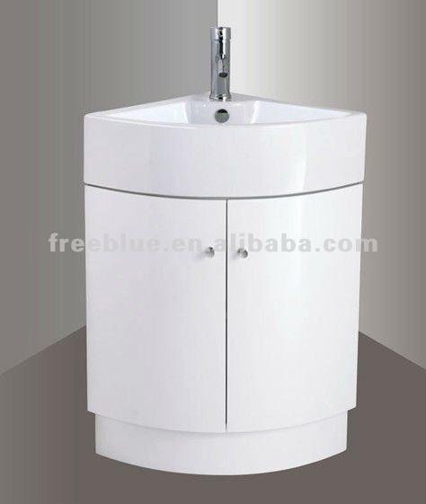 Coin salle de bains meubles avec bassin en c ramique for Meuble salle de bain en coin