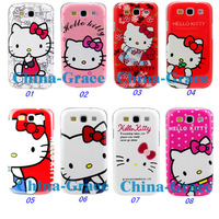 Чехол для для мобильных телефонов Hello Kitty Cartoon Plastic Hard Back Cover Case For Samsung Galaxy S 3 S3 i9300 E135