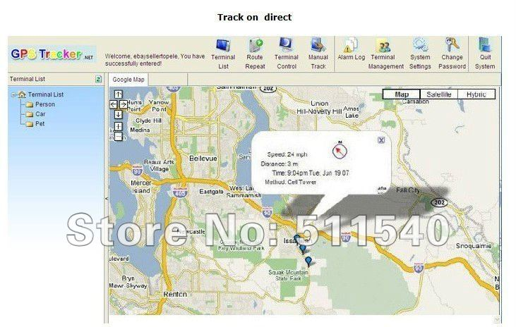 TK102 Vehicle / Car GPS tracker 102 three bands GPS tracking system