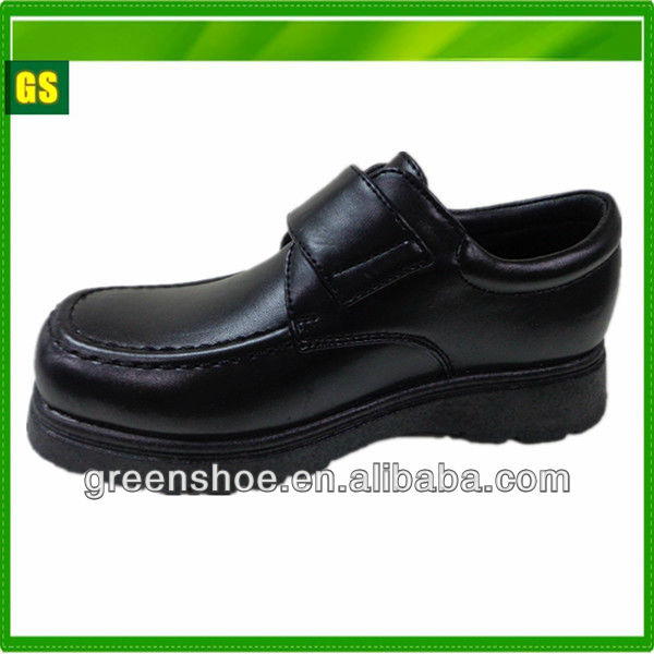 2014 hot selling children black school shoes