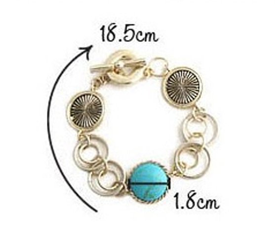 blue wiredrawing design rhinestone wrap bracelet