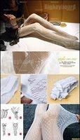 Женские колготки Fashion Sexy White Fishnet Pattern Jacquard Stockings Pantyhose Tights