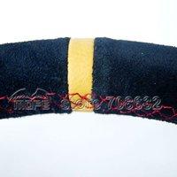 350mm 90mm Deep Cone Suede Leather MOMO Racing Car Steering Wheel