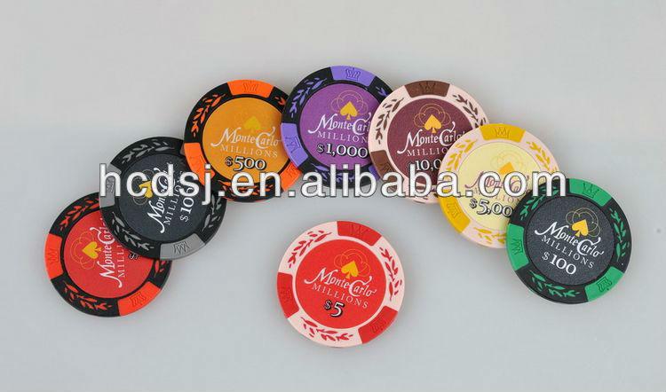 Two-tone sticker poker chips,Custom souvenir poker chip