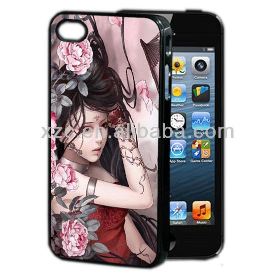 New 3D girl print for iphone 4 case,for custom iphone case,for custom 3D printed iphone case