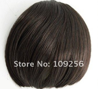 High Temperature Fiber Synthetic Wigs Brown/black Short Women Wigs Fashion Front Lace Best straight bangs human hair lace wig