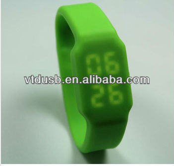 Promotional USB watch led, USB watch silicone, China USB flash drive factory
