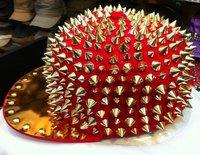 Женская бейсболка women men's baseball cap fashion classic studs hiphop rivets hat punk cap