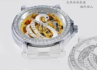 Наручные часы Fashion Rhinestone Woman Watches Automatic Mechanical Watch EG-0908, crystal mechanical women watch