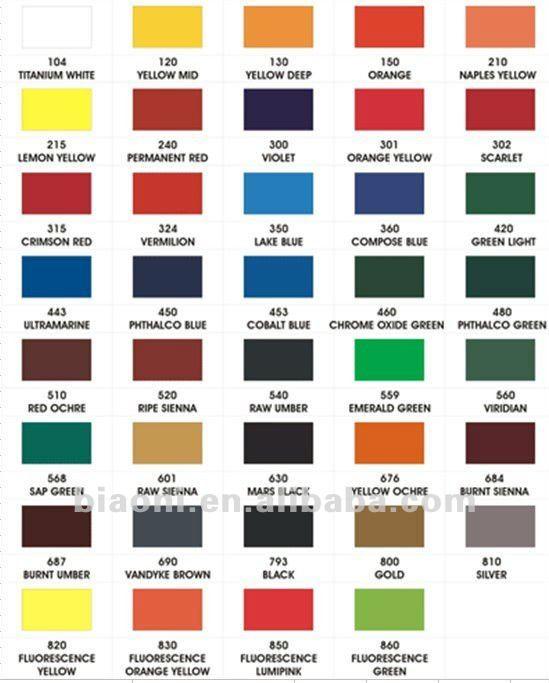 Nombres de colores de pinturas images - Nombres de colores de pinturas ...