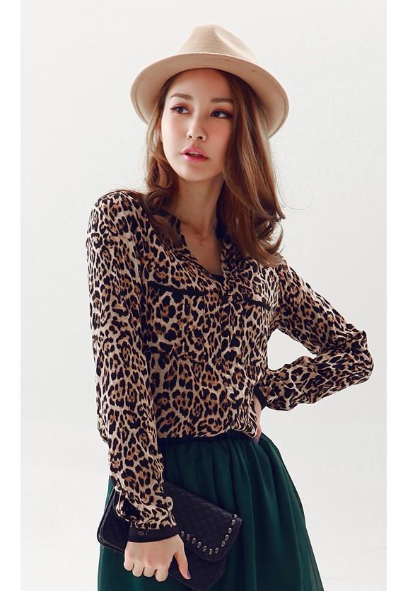 Леопардовая Блузка В Москве