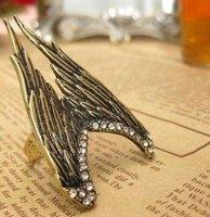 Кольцо ANGEL WINGS Silver Golden RING Vintage Retro Bronze Antique Jewelry Crystal Pop