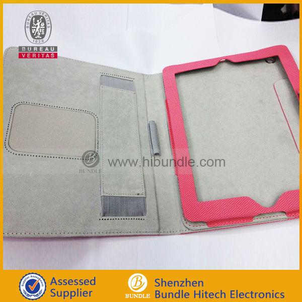 Haute qualité protable flip stand case pour ipad4 / 3 / 2, Pour ipad rotation étui