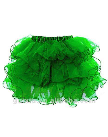 Пышная зеленая юбка для девочки
