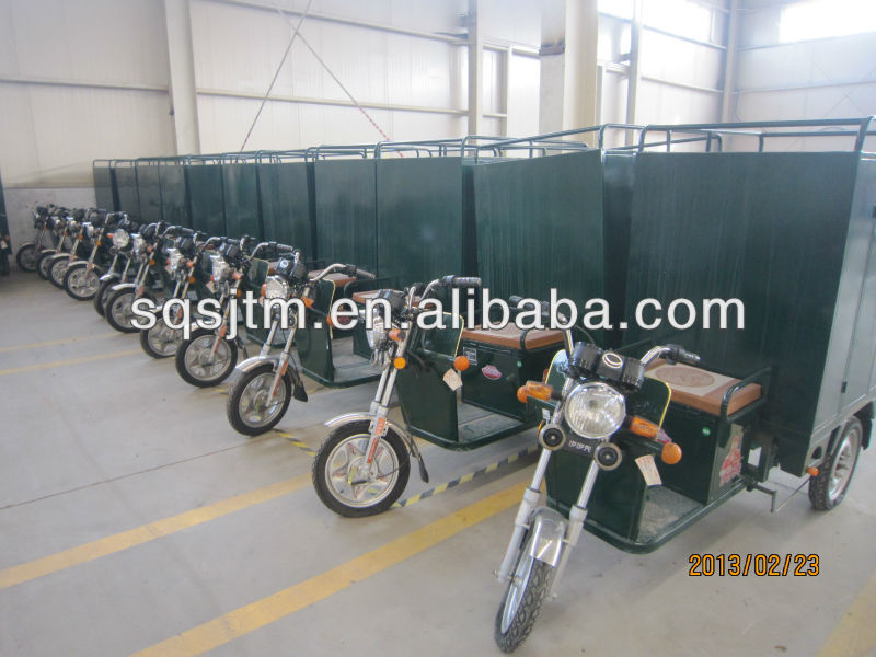 closed tricycle for courier, EMS
