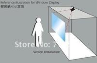 Dark grey color rear projection film(shop window),