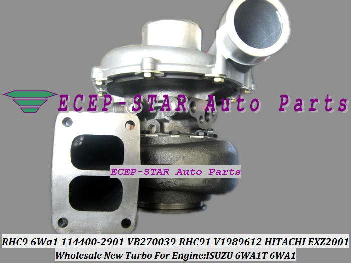 RHC9 6Wa1 114400-2901 VB270039 TURBO RHC91 114400-2901 V1989612 1980009 Turbocharger for HITACHI EXZ2001 ISUZU 6WA1T 6WA1 (1)