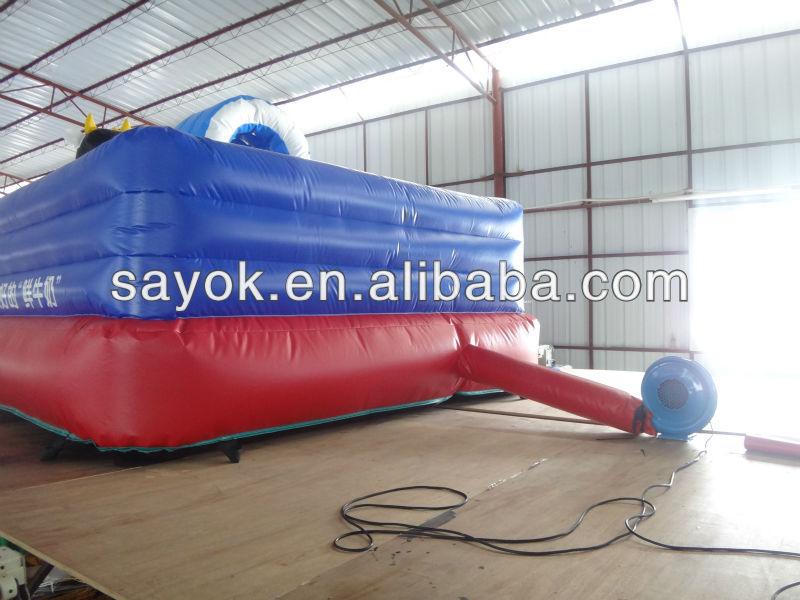 New popular best sale new design inflatable fire truck slide