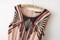 Женский комбинезон spring new Korean Institute of wind spell color geometric print sleeveless jumpsuit piece pants shorts 49