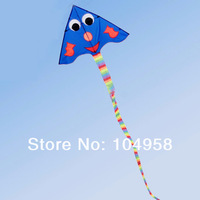 Long-Tail Blue Simle Kite Beach Outdoor Sports Fun Kid Toys & Easy to Fly For Kids Free Express 20pcs/lot