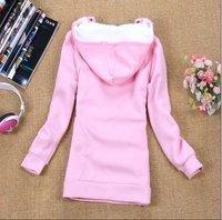 Розничная торговля женщинами украшен долго стиль hoodie/мультфильм толстовка/хлопок обувь пальто