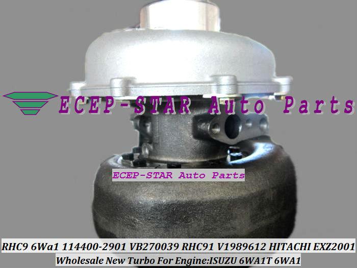 RHC9 6Wa1 114400-2901 VB270039 TURBO RHC91 114400-2901 V1989612 1980009 Turbocharger for HITACHI EXZ2001 ISUZU 6WA1T 6WA1 (2)