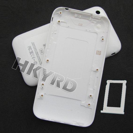 Аксессуары для мобильных телефонов White Back Housing Cover Case For iPhone 3G with Sim tray 8GB/16GB C1013