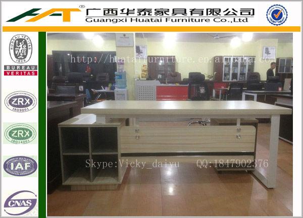 2013 Best Selling Wooden Office Furniture Metal Frame Manager Office Desk