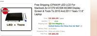 "Компьютерные аксессуары Brand New 13"" Laptop LED LCD Screen For Macbook Air A1369 MC503 MC504 MC965 MC966 Glass Display To 2010 And 2011 Years 100% Test"