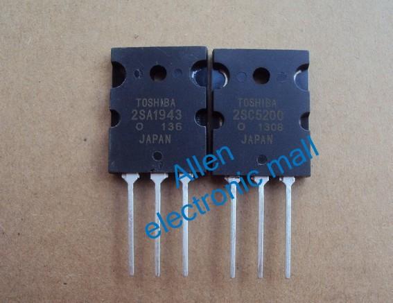 Транзистор 10 pairs of 2SA1943 & 2SC5200 A1943 & C5200 AMP. Transisto