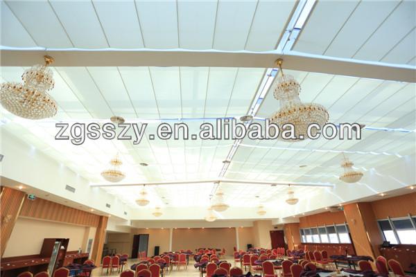 커튼 벽 폴리 에스터 직물 수평 블라인드 접이식 지붕-블라인드 ...