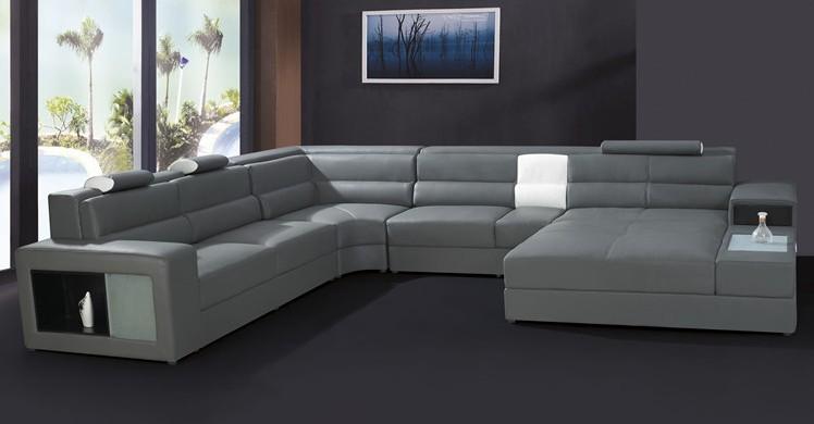Moderno Muebles Sof Conjunto De Cuero Seccional