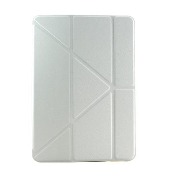For New iPad Air Smart Case 5 Shapes Transformer Folding Cross Pattern Cover For Ipad 5 With Automatic Sleep & Wake-Up Function