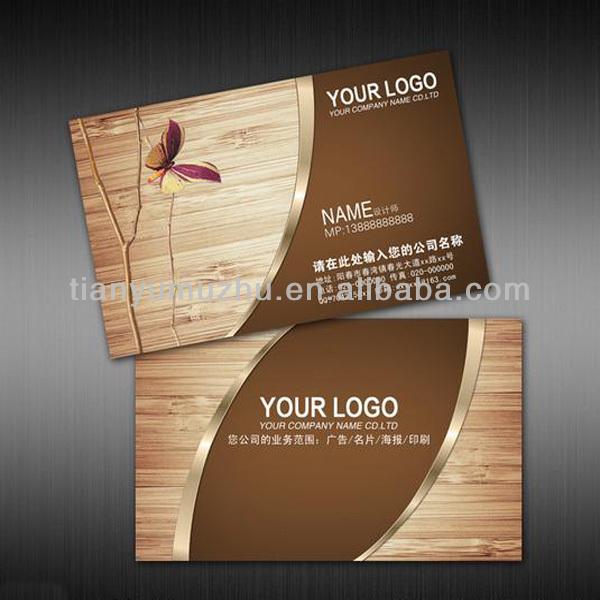 Grave 3D logotipo em relevo cartão de visita de madeira de madeira redonda