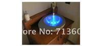 Кухонная техника Water Stream Temperature Sensitive Controlled LED Faucet Tap 2 Color Lights+2 x Thread Adapter