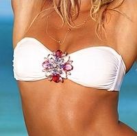 Gabriel4u] Don't miss:2013 vsgenuine brandwith label outstanding style huge swarovski deco before bra bandeau bikinis