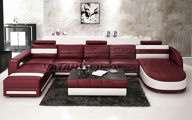 Vatar muebles del salón italiano, búfalo sofá de cuero, sofá de ...